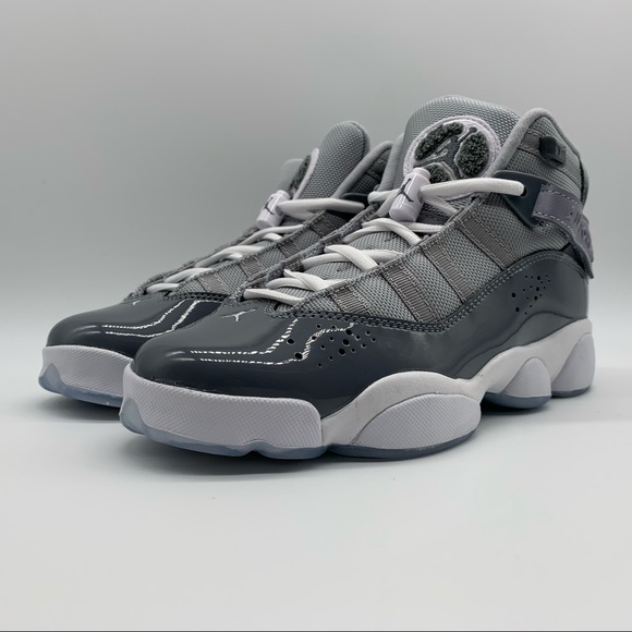 BLACK-WHITE 323419 011 JORDAN 6 RINGS BIG KIDS BLACK GS
